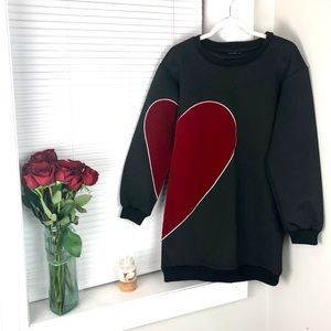 Vkozen Heart Long Sleeve Dress